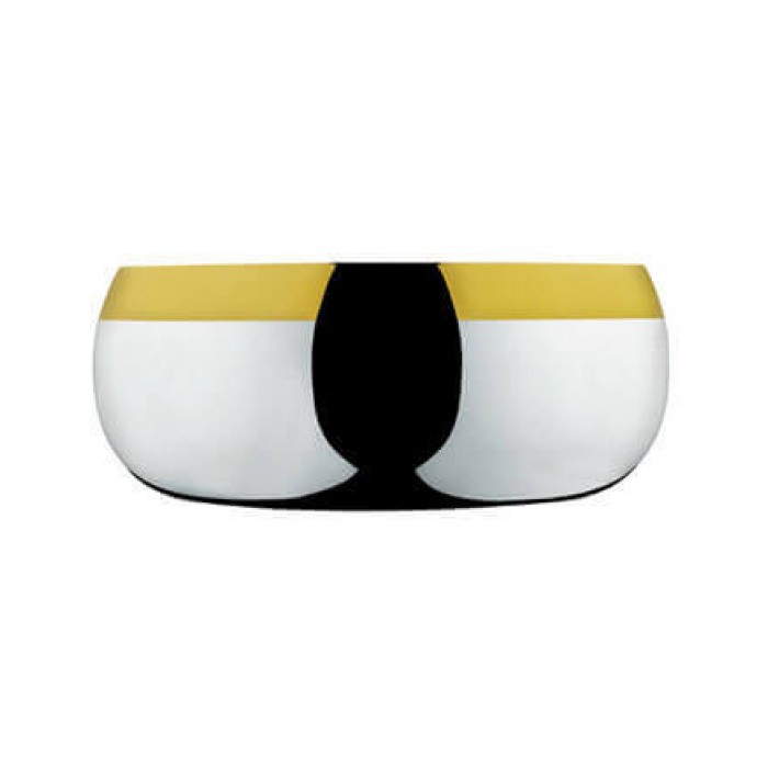 Чаша Барон диаметром 24 см.- посеребренный с золотым декором
