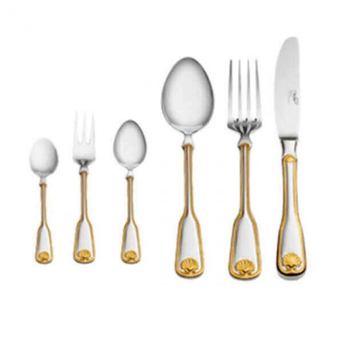 Дополнение к столовым приборам Венус декорированное золотом на 12 персон (36 предметов)
