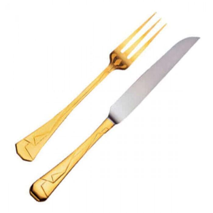 Набор для стейка Кимоно позолоченный (12 предметов)