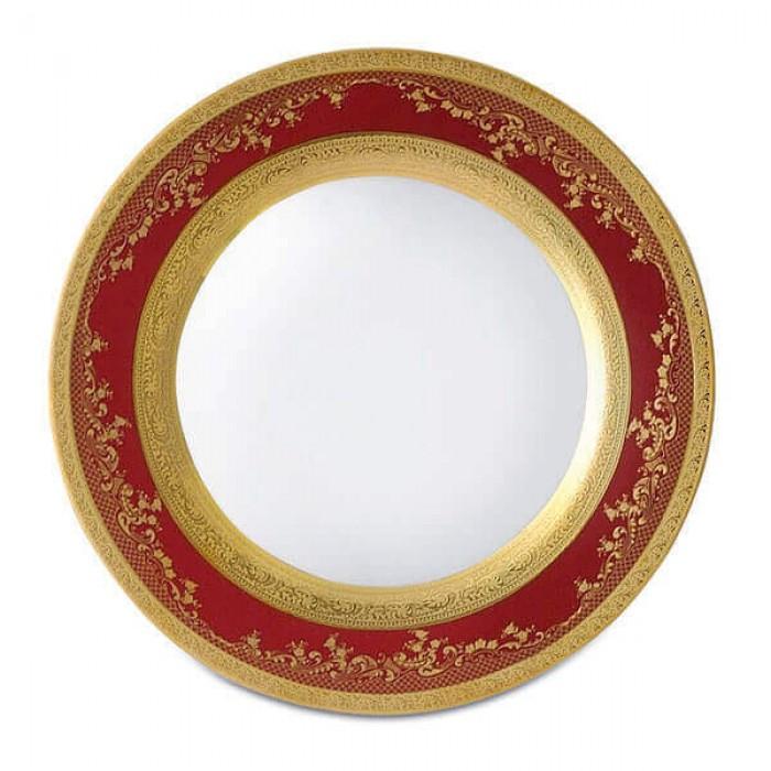 Фарфор Royal Gold - Тарелки для Хлеба 17 cм Бордо (6 Единиц)