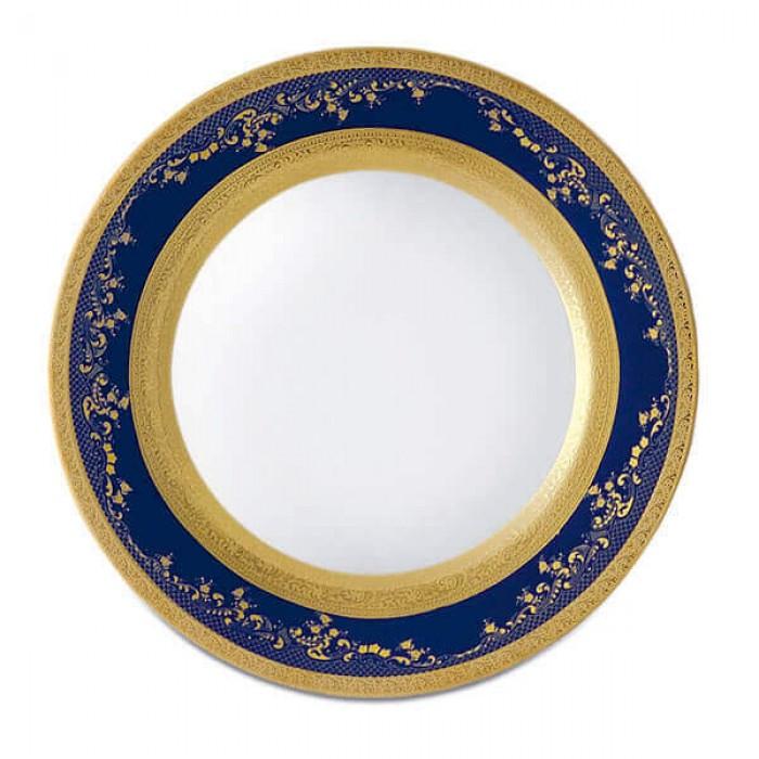 Фарфор Royal Gold - Тарелки для Хлеба 17 cм Кобальт (6 Единиц)