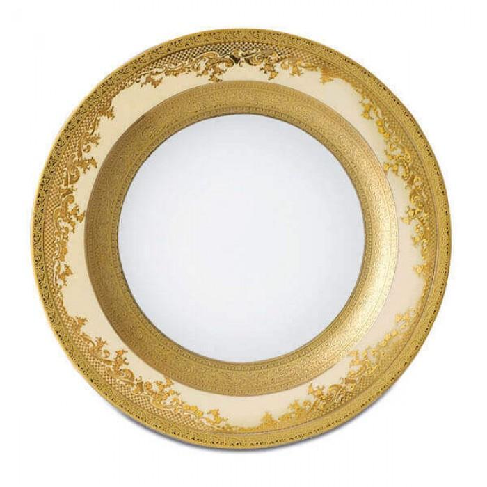 Фарфор Royal Gold - Тарелки для Хлеба 17 cм Кремовые (6 Единиц)