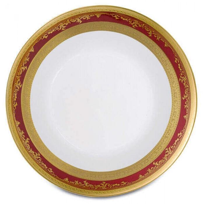 Фарфор Royal Gold - Салатники 19 cм Бордо (6 Единиц)