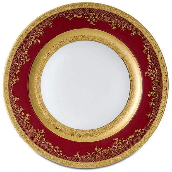 Фарфор Royal Gold - Подставки под тарелки 32 cм Бордо (6 Единиц)