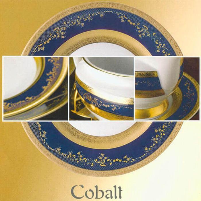 Фарфор Royal Gold - Подставки под тарелки 32 cм Кобальт (6 Единиц)