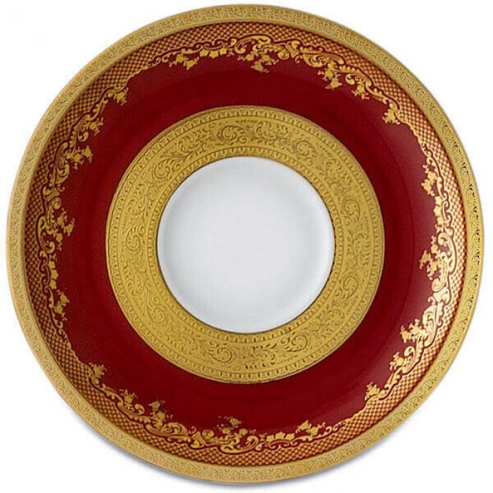 Фарфор Royal Gold - Кофейный Набор 6 Персон Бордо (15 Единиц)
