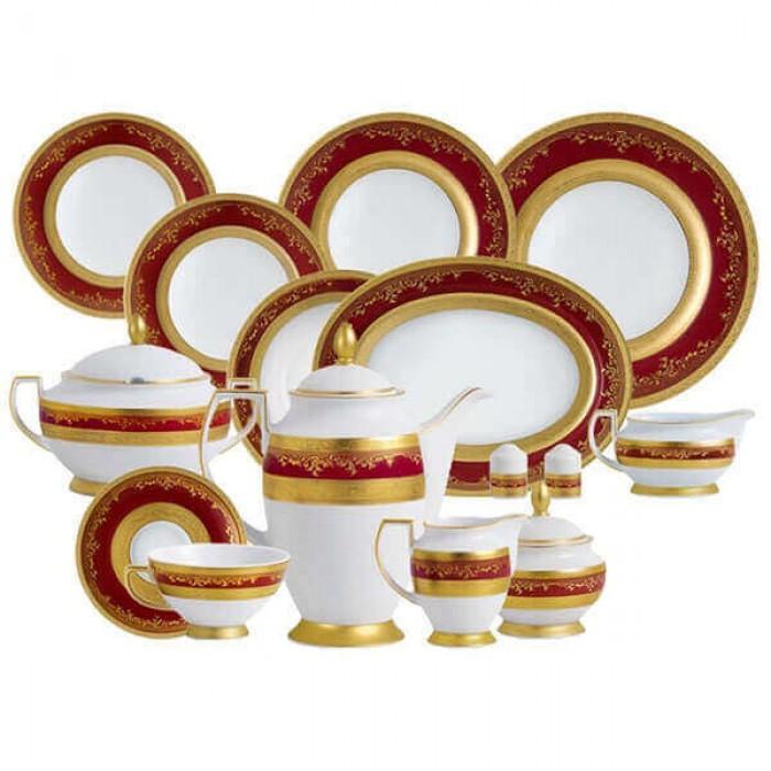 Фарфор Royal Gold - Набор для Ужина 6 Персон Бордо (25 Единиц)