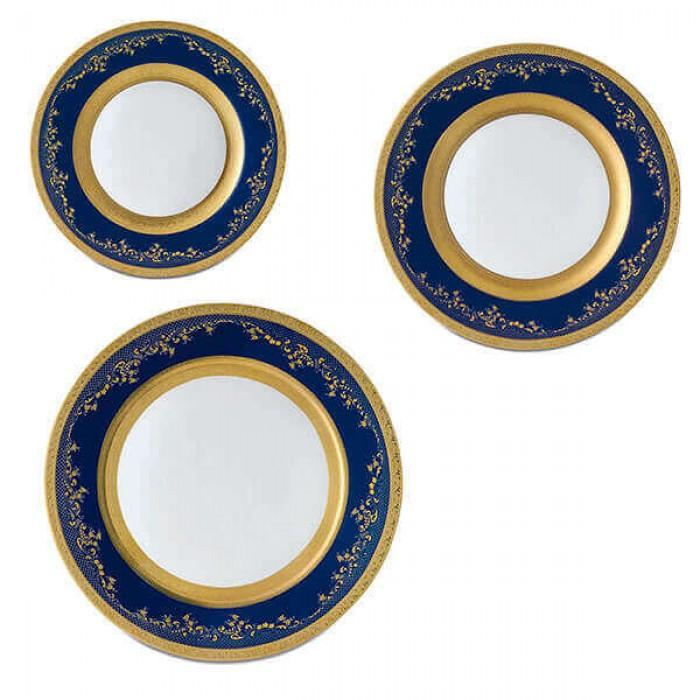 Фарфор Royal Gold - Набор для Ужина Дополнение Кобальт (18 Единиц)