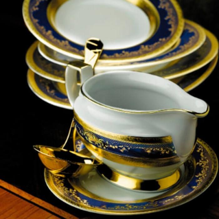 Фарфор Royal Gold - Набор для Ужина на 12 Персон Кобальт (43 Единицы)