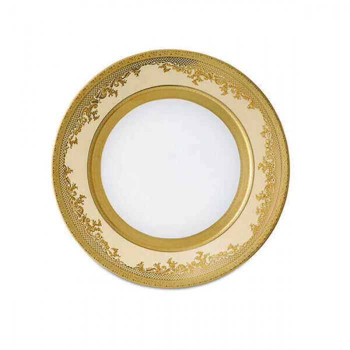 Фарфор Royal Gold - Полный Набор на 12 Персон Кремовый (70 Единиц)