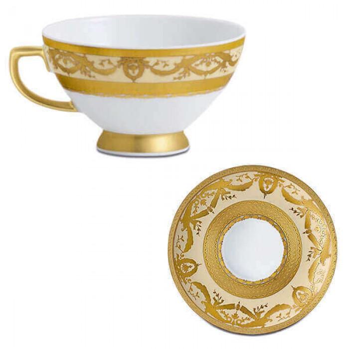 Фарфор Imperial Gold - Кофейный набор Дополнение Кремовый (12 Единиц)