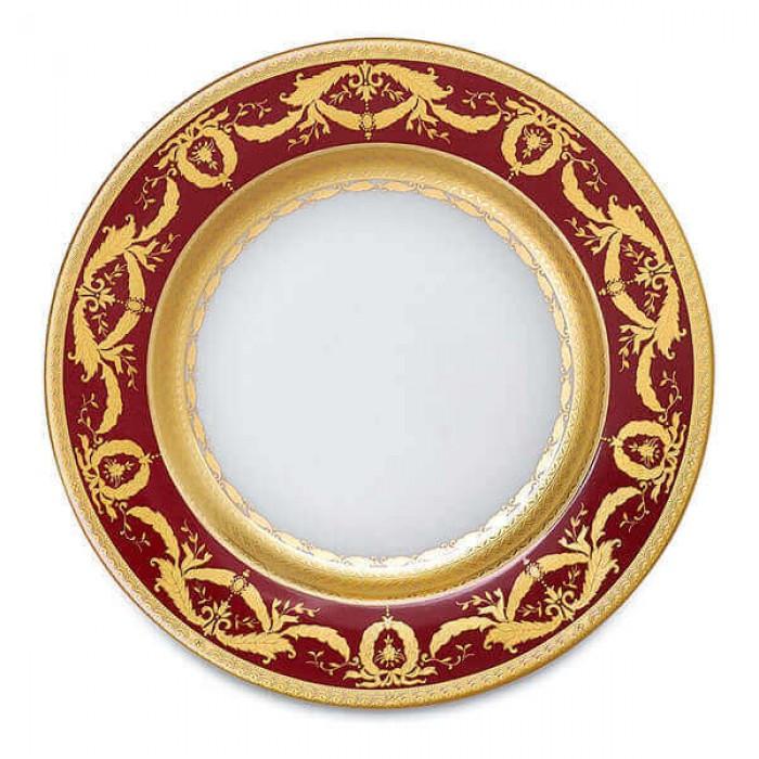 Фарфор Imperial Gold - Тарелки для Хлеба 17 см Бордо (6 Единиц)