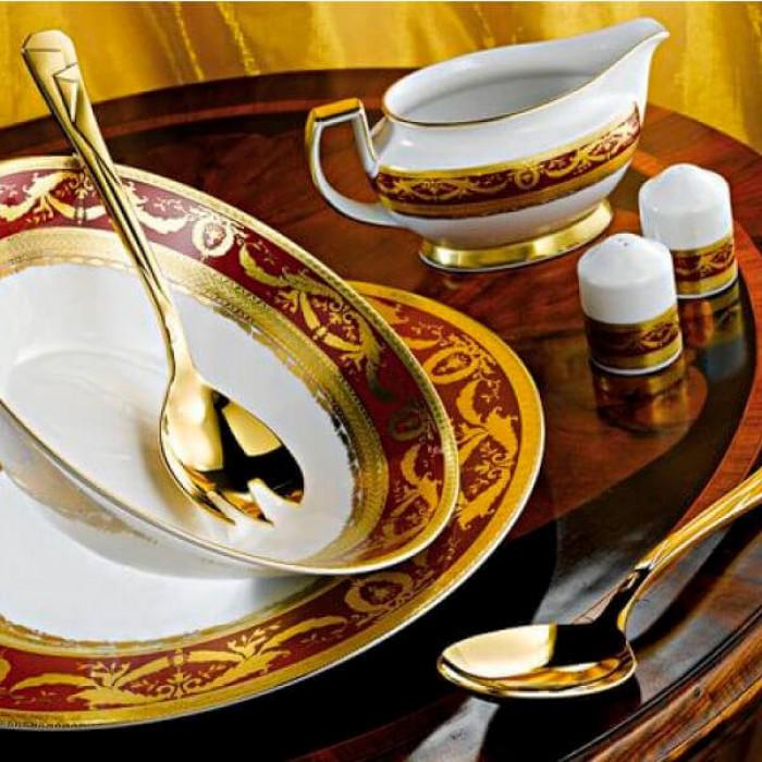 Фарфор Imperial Gold - Кофейный набор Дополнение Бордо (12 Единиц)