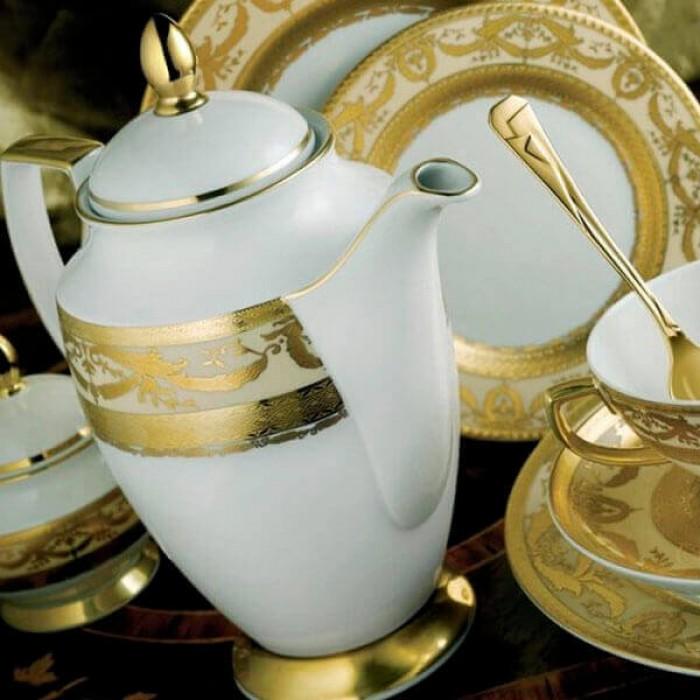 Фарфор Imperial Gold - Тарелки для Хлеба 17 см Кремовые (6 Единиц)