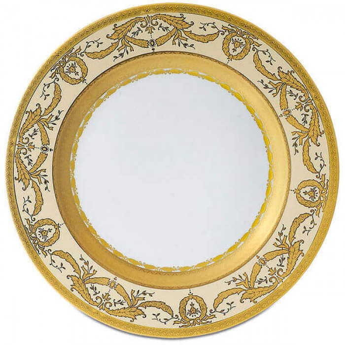 Фарфор Imperial Gold - Полный Набор на 6 Персон Кремовый (40 Единиц)
