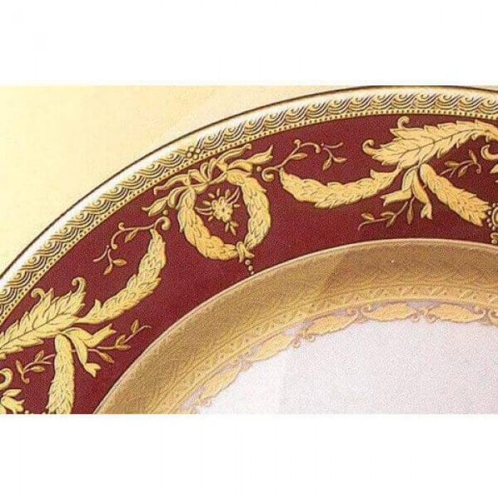 Фарфор Imperial Gold - Подставки под тарелки 32 см Бордо (6 Единиц)