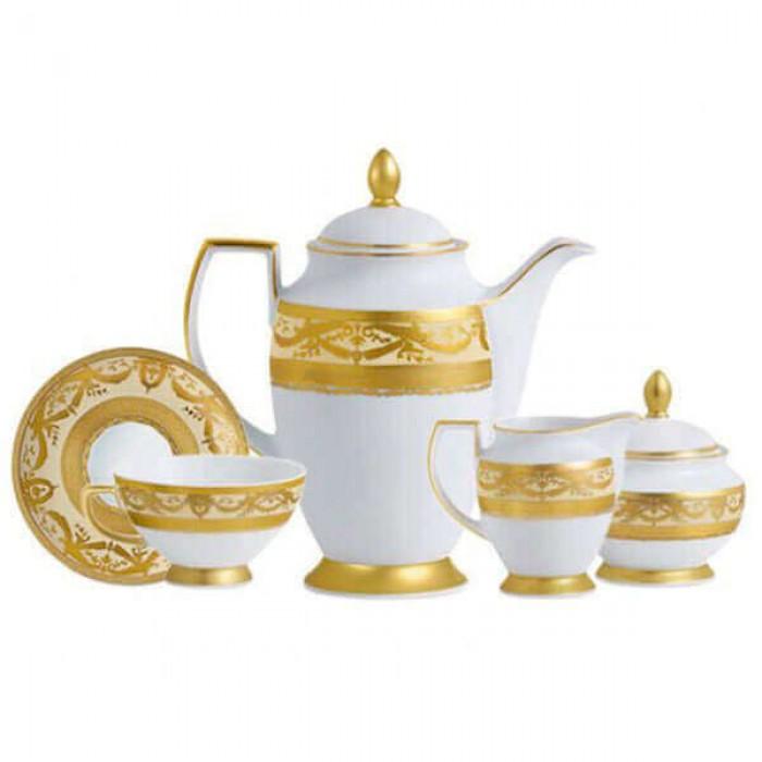 Фарфор Imperial Gold - Кофейный Набор 6 Персон Кремовый (15 Единиц)