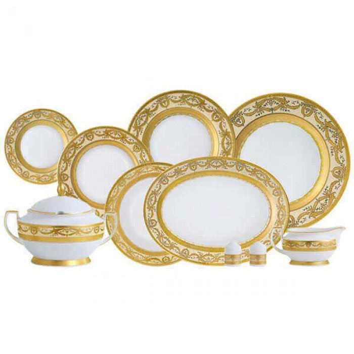 Фарфор Imperial Gold - Набор для Ужина Дополнение Кремовый (18 Единиц)