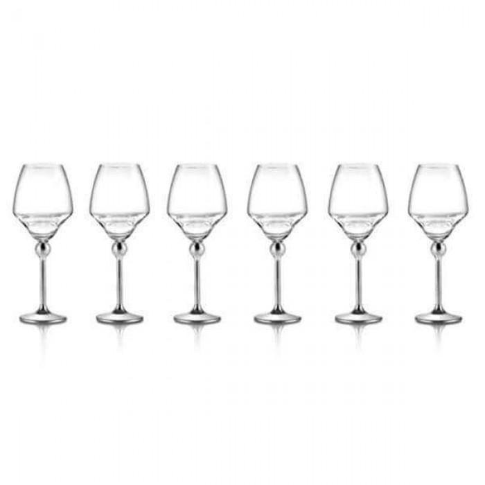 Бокалы для белого вина с металлическими ножками - 6 ед.