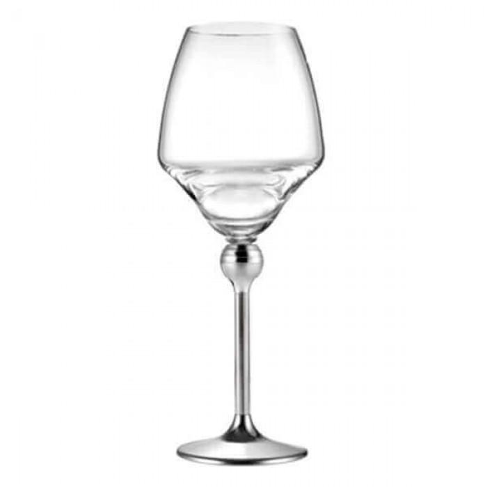 Бокалы для красного вина с металлическими ножками - 6 ед.