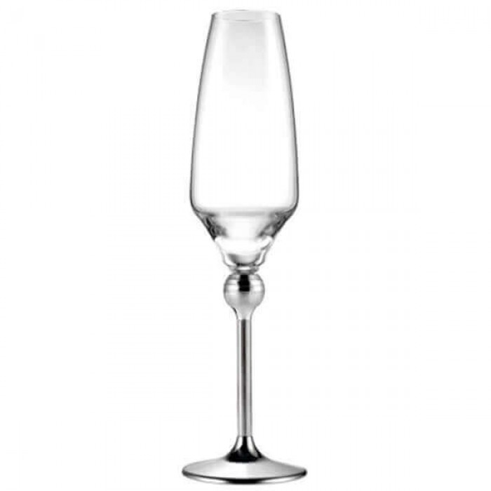 Бокалы для шампанского с металлическими ножками - 6 ед.