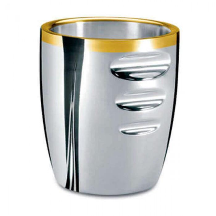 Ведерко для льда - посеребренное с золотым декором