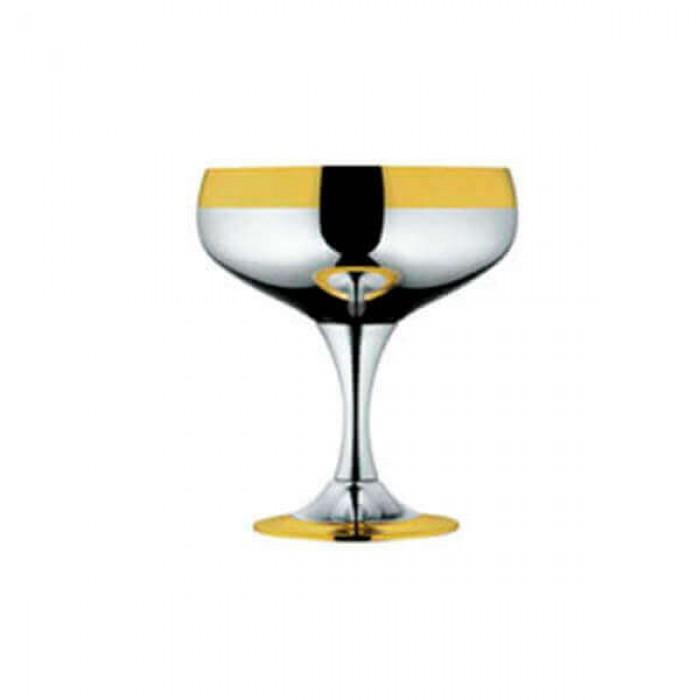 """Набор бокалов для шампанского """"Барон"""" - с серебряным покрытием и золотым декором"""