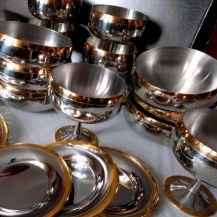 "Набор бокалов ""Барон"" - с золотым декором"