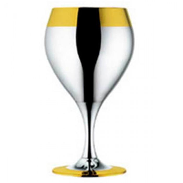 Набор из 6 шт бокалов для вина - с золотым декором