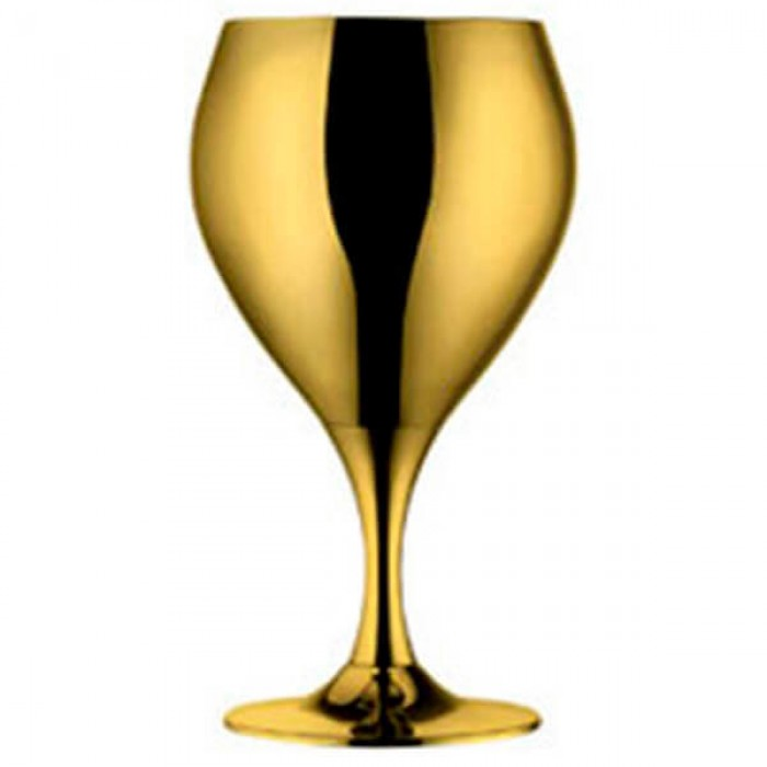 """Набор бокалов для воды """"Принц"""" - позолоченный"""