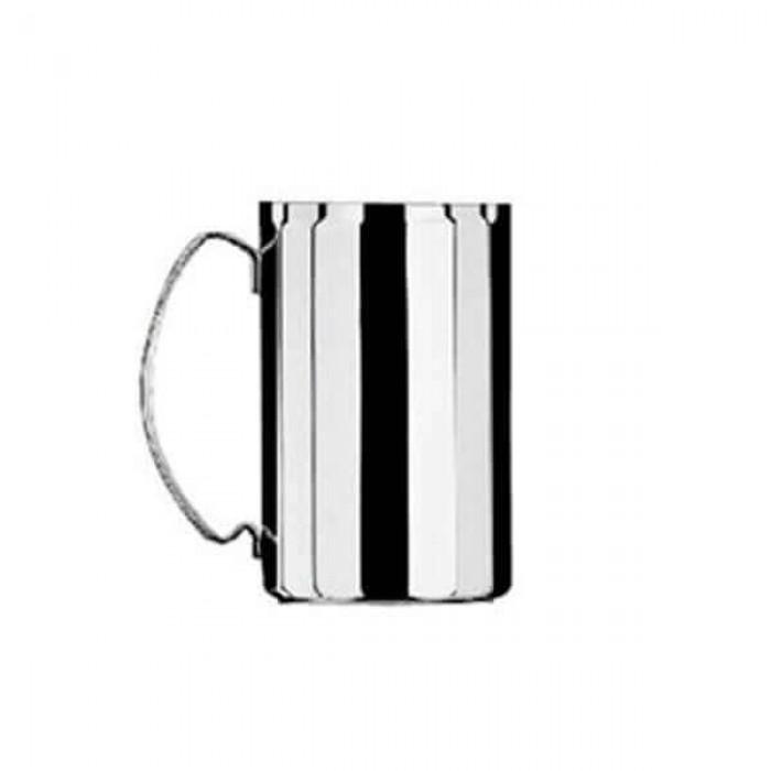 Набор из 6 шт стаканов для чая с ручкой - посеребренный