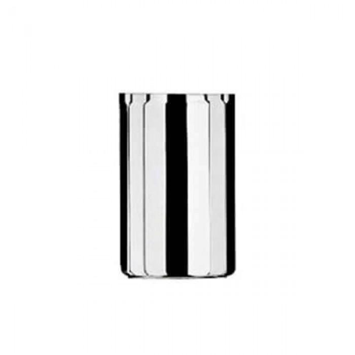 Набор из 6 шт стаканов для чая без ручки - посеребренный
