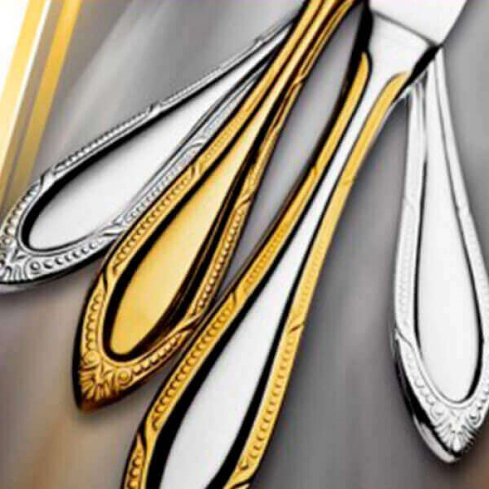 Дополнение к столовым приборам Сенатор декорированное золотом на 12 персон (36 предметов)