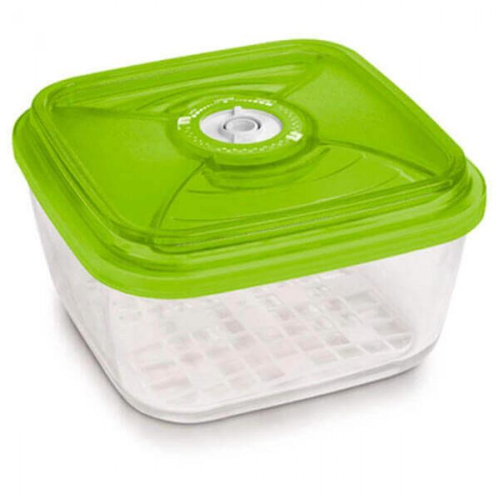 Стеклянный контейнер 22x22x10,5 см 3,6л зеленый