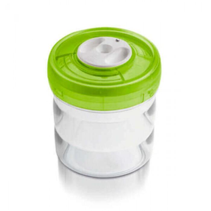 Ёмкость цилиндрическая Ø11x12,5 см 0,75л зелёная