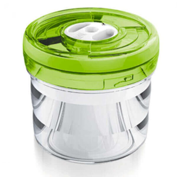 Ёмкость цилиндрическая Ø13,5x12,5 см 1,1л  зелёная