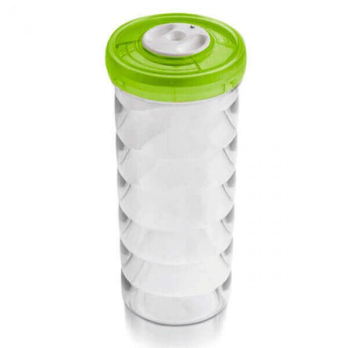 Ёмкость цилиндрическая  Ø11x26,5 см 1,75л зелёная
