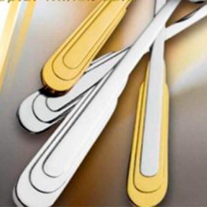 Фиш сет Каприз декорированный золотом на 6 персон (12 предметов)