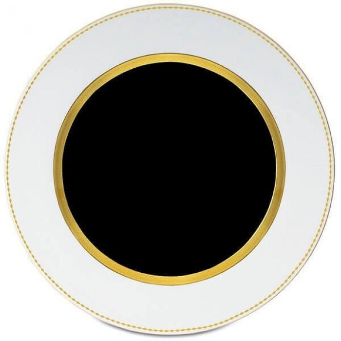 Фарфор Black & White - Подставки под тарелки 32 cм. Черно-Белые ( 6 Единиц )
