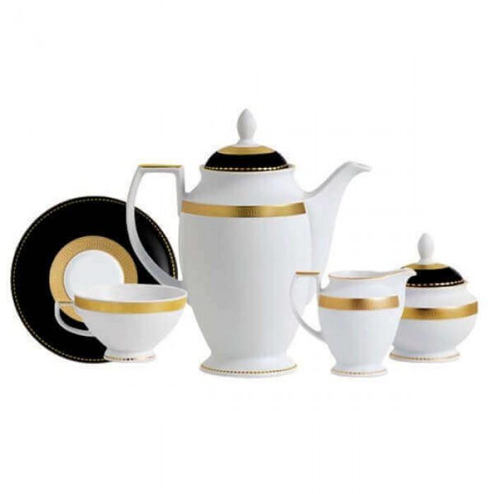 Фарфор Black & White - Кофейный Набор на 12 Персон Черно-Белые ( 27 Единиц )