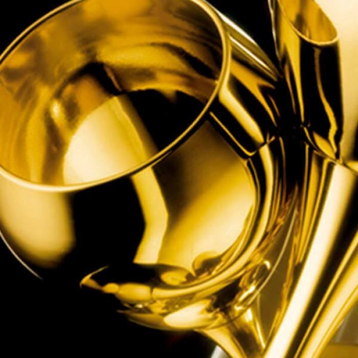 Набор из 6 шт бокалов для воды - позолота