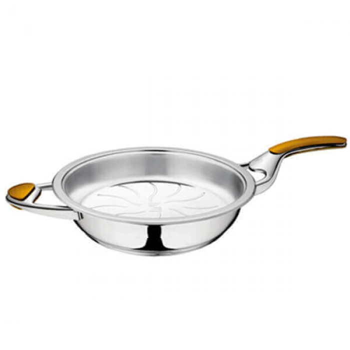 Сковорода 2.8 л, 28 см., зеркальная полировка, без крышки